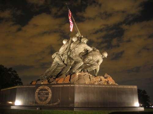 U.S. Marine Corps War Memorial of Iwo Jima free photo