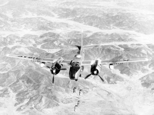 USAF Douglas B-26B Invader of the 452nd Bombardment Wing during Korean War free photo