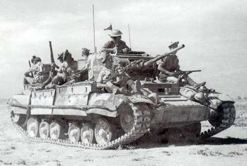 Valentine tank in North Africa during Second Battle El Alamein, World War II free photo