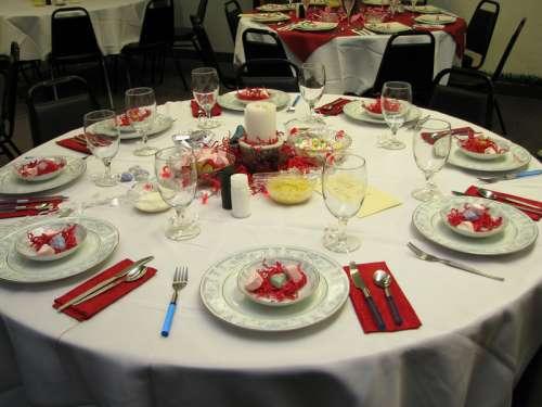 Valentines Dinner Table free photo