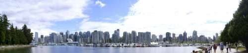 Vancouver skyline from Stanley Park in British Columbia, Canada free photo