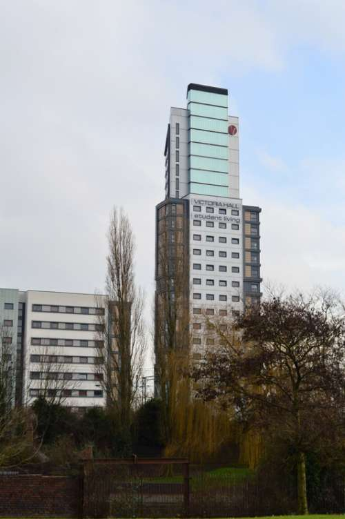 Victoria Halls tower in Wolverhampton, England free photo