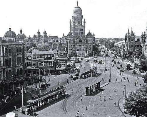 Victoria Terminus building in Bombay, India in 1950 free photo