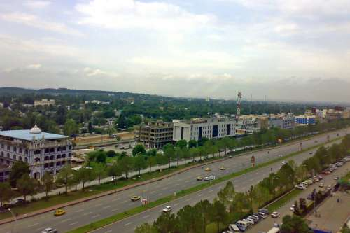 View of Blue Area from Jinnah Avenue in Islamabad, Pakistan free photo