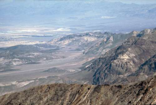 View of Death Valley National Park from Dante's Point in Nevada free photo