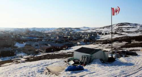 View of Iqaluit from Joamie Hill in Iqaluit, Nanuvut, Canada free photo