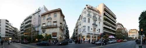 View of Kolonaki Square in Athens, Greece free photo