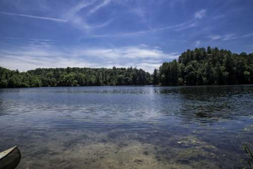View of the Lake at Governor Dodge State Park, Wisconsin free photo