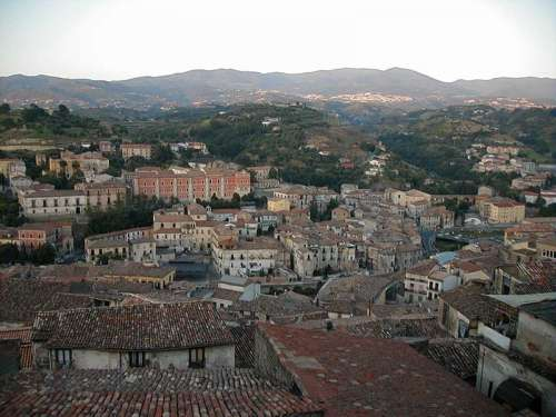 View of the Old Town in Cosenza, Italy free photo