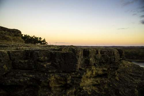 View of the top of the Bluff in Ferry Bluff, Wisconsin free photo