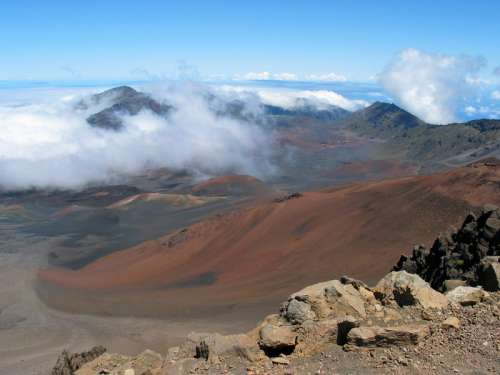 View of the visitors center in Haleakala National Park, Hawaii free photo