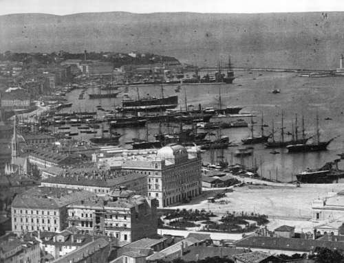 View of Trieste in 1885 in Italy free photo
