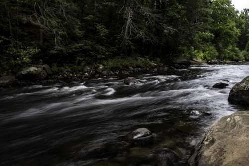 View of Whiskey Rapids at Algonquin Provincial Park, Ontario free photo