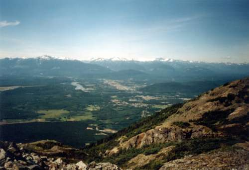 View from Mount Thornhill in Terrace, British Columbia free photo