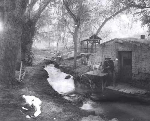 Vintage black and white of Las Vegas, Nevada, 1895 free photo