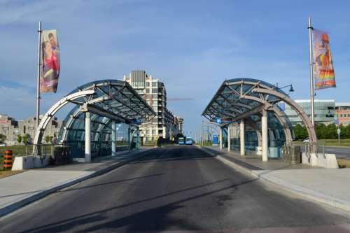 VIVA Warden station in Markham in Ontario, Canada free photo
