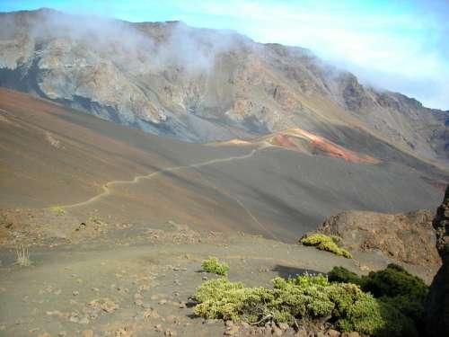 Volcanic Landscape in Haleakala National Park, Hawaii free photo