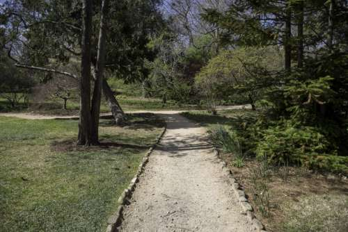 Walkway in the Gardens of UNC Chapel Hill, North Carolina free photo