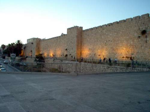 Walls and the Jaffo Gate in Jerusalem, Israel free photo
