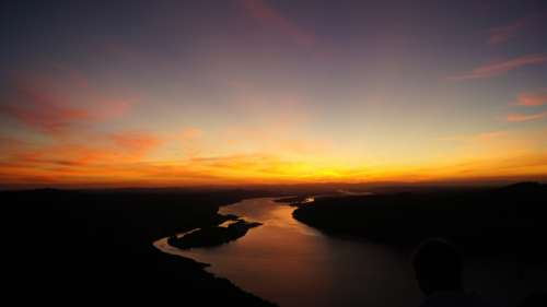 Watch the River landscape at dusk in Oregon free photo