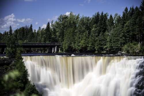 Waterfall Bowl at Kakabeka Falls, Ontario, Canada free photo