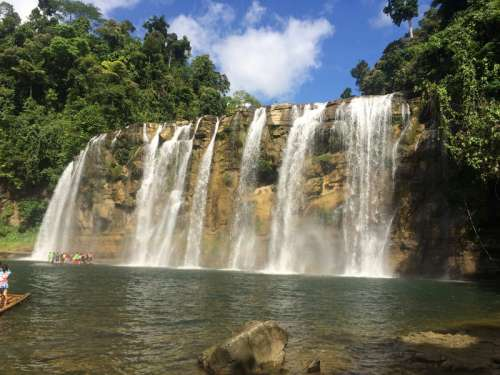 Waterfalls landscape in the Philippines free photo