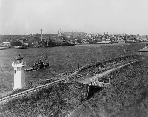 Waterfront of Halifax in 1917 in Nova Scotia, Canada free photo