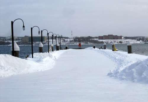 Winter and Snowy Waterfront in Halifax, Nova Scotia free photo