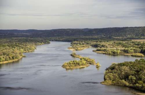 Wisconsin River Landscape Overview from Ferry Bluff free photo