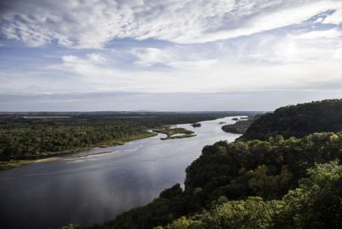 Wisconsin River Valley Landscape at Ferry Bluff free photo