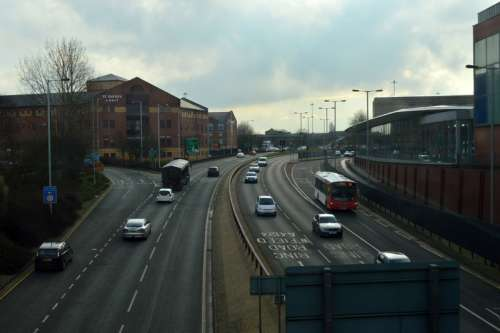 Wolverhampton's Ring Road in England free photo