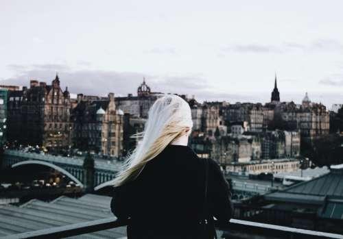 Women looking at Edinburgh free photo