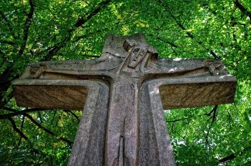 Wooden Jesus Cross free photo