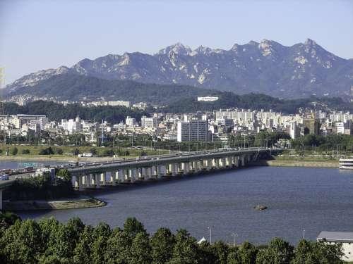 Yanghwa Bridge in Seoul, South Korea free photo