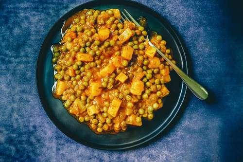 Green Peas Potato Dish