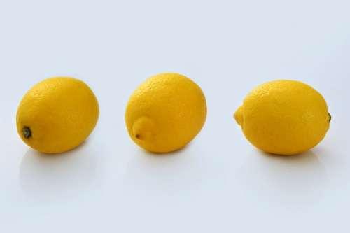 Yellow lemons on the table