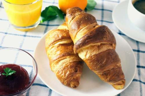 Croissants with a jam breakfest