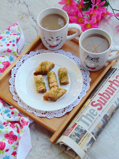 Morning Tea and Sweet Baklava