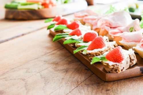 Fresh savours with strawberries