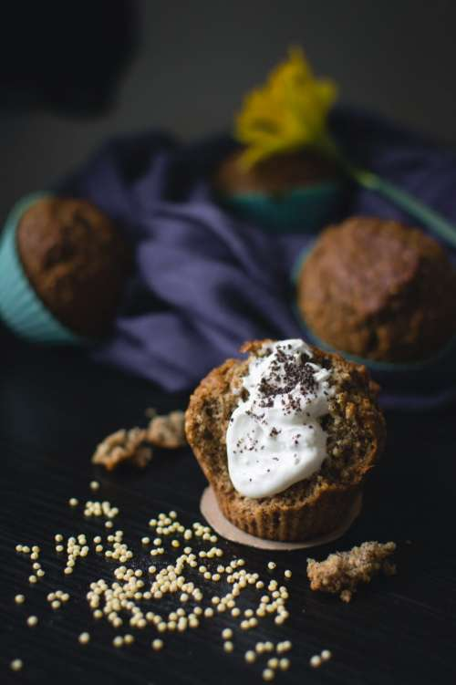 Healthy muffin with poppy seed