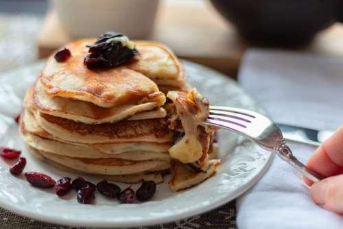 Orange Cheese Pancakes