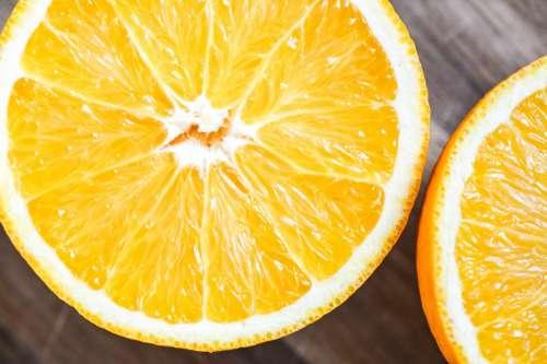 Orange fruit macro