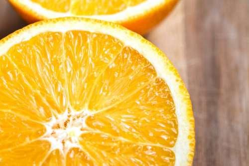 Sliced orange fruit close up