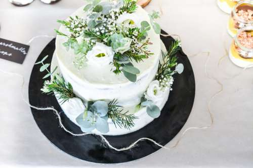 Wedding cake from the top