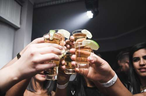 Cheers at a party