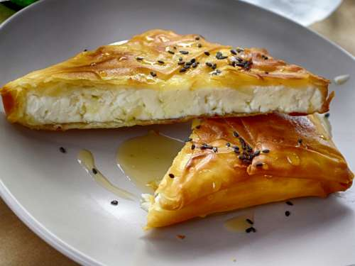 Philly Pastry Feta with Honey and Sesame Seeds