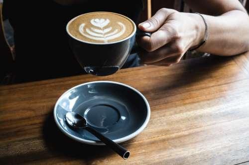 Cappuccino in a café