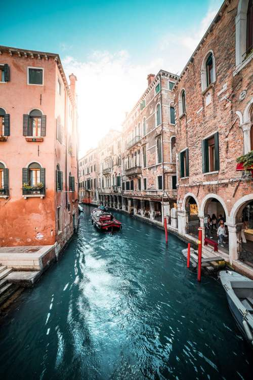 Famous Canals in Venice, Italy