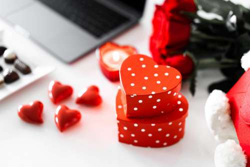 Valentine's Day Heart Shaped Gift Boxes