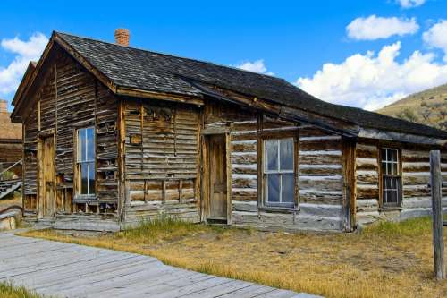 Abandoned Bannack Home Bannack State Park Ghost